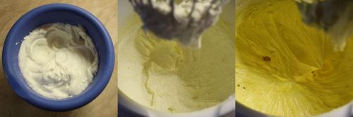Sníh, vyšlehané máslo