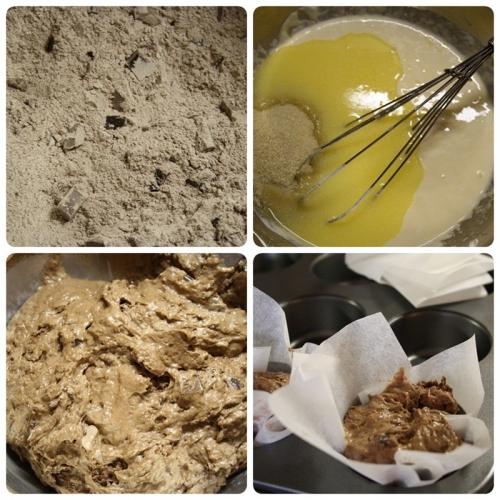 Čokoládové muffiny - příprava