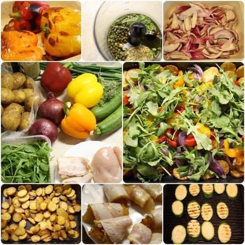 Příprava salátu