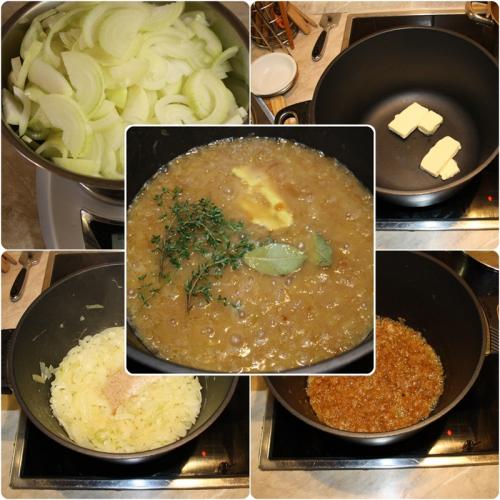 Příprava cibulové polévky