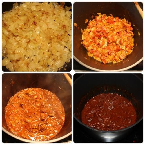 Příprava guláše
