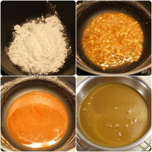Příprava karamelové šlehačky