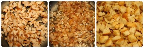 Špekové knedlíky - špek a houskové kostičky