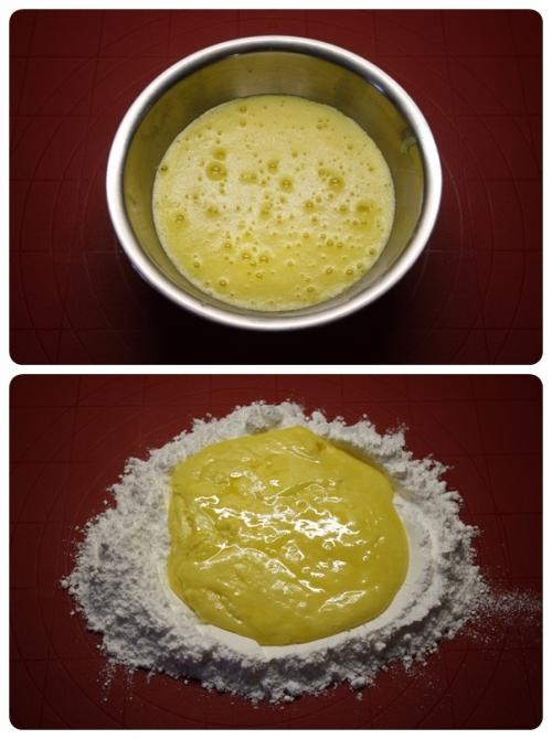 Žloutkové cukroví - příprava těsta