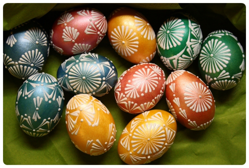 Omalovaná vajíčka