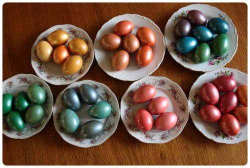 Obarvená vajíčka