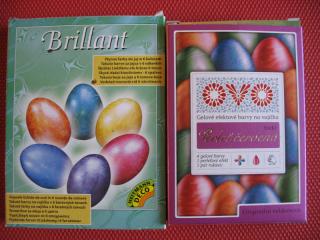 Krabičky barev na vejce