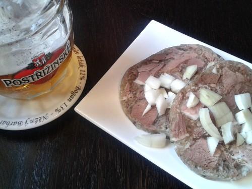 Tlačenka a postřižinské pivo