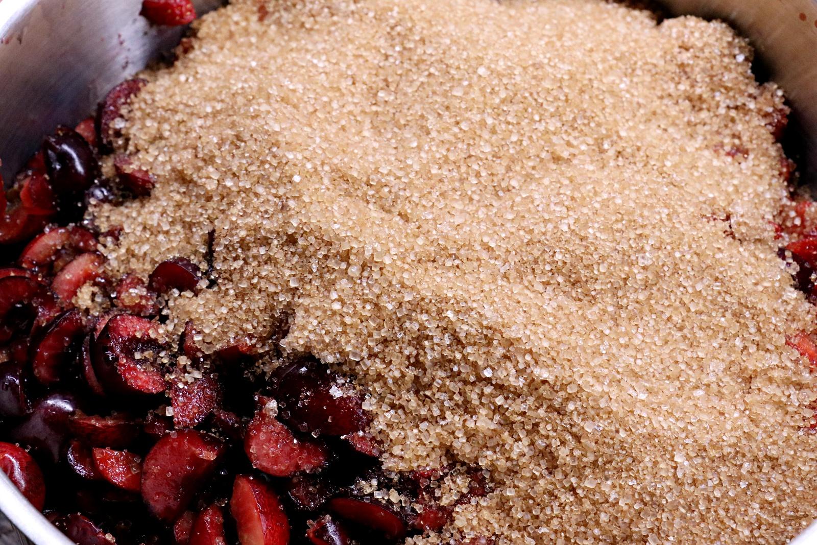 Přidání třtinového cukru