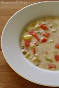 Smetanová sójová polévka
