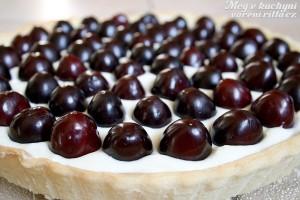 Koláč střešněmi a bílou čokoládou
