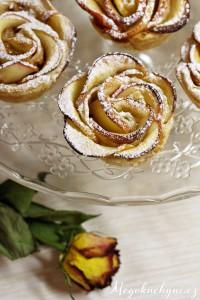 Růže zlistového těsta ajablek