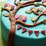 Bezlepkový, borůvkový, soví dort