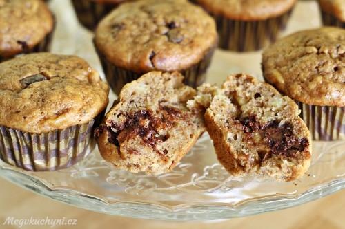 Kokosovo-banánové muffiny s čokoládou