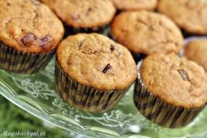 Kokosovo-banánové muffiny sčokoládou
