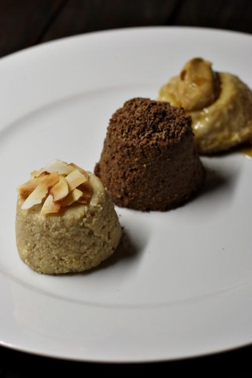 Kokosová, čokoládová a arašídová kaše
