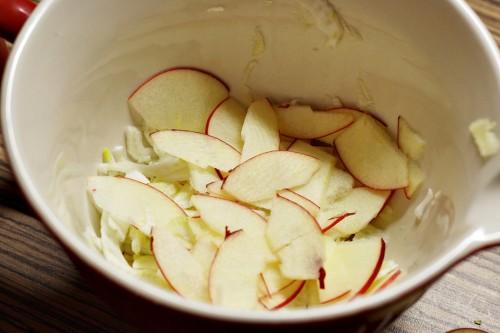 Nakrouhané jablko