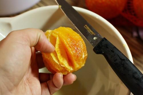 Filetování pomerančů