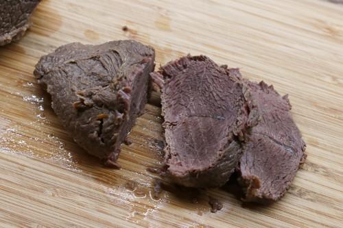 Nakrájené vařené maso