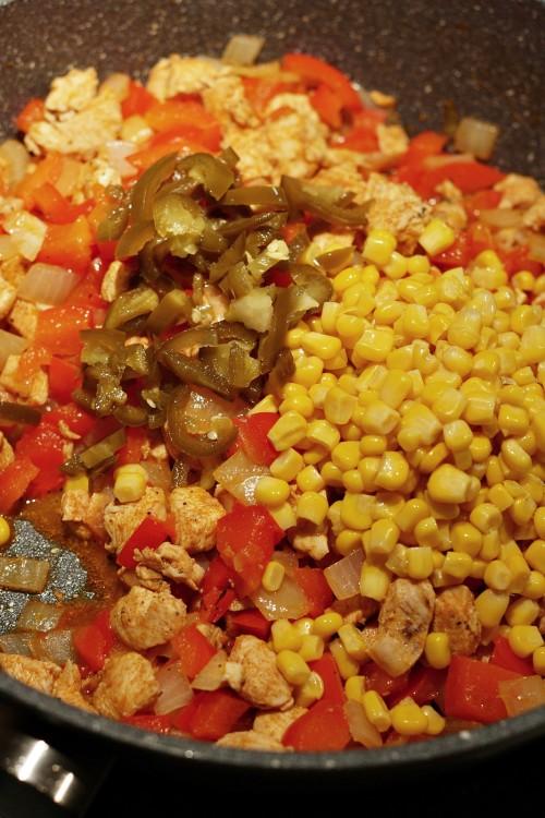 Kukuřice a jalapenos k masu