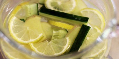 Citron, okurka, zázvor