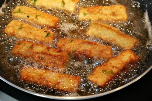 Smažení rybích prstů