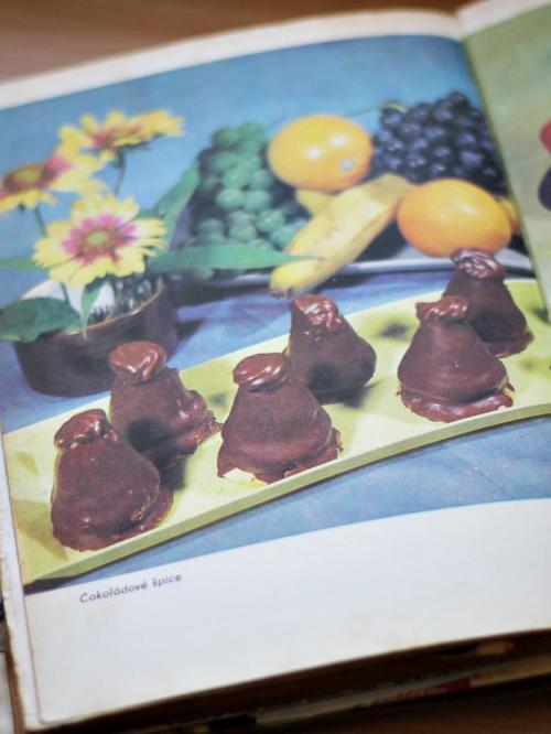 Čokoládové špice v kuchařce