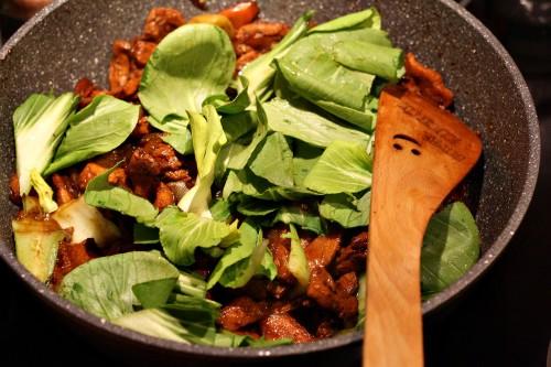 Maso s čínským zelím