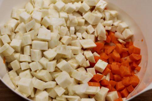 Kostičky zeleniny