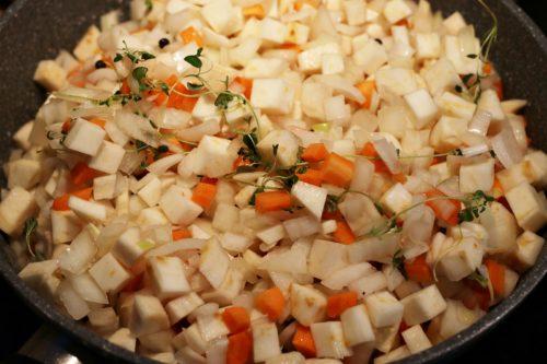 Přidání zeleniny