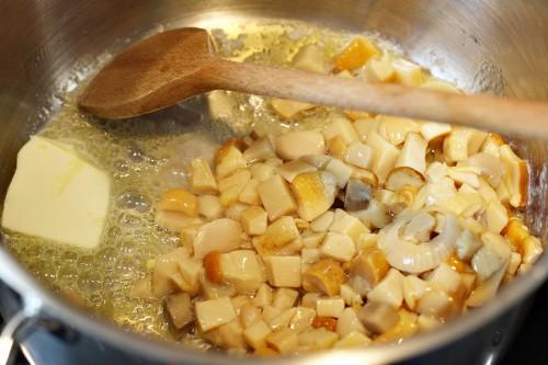Houby na másle
