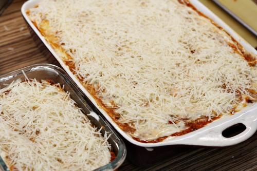 Lasagne připravené k pečení