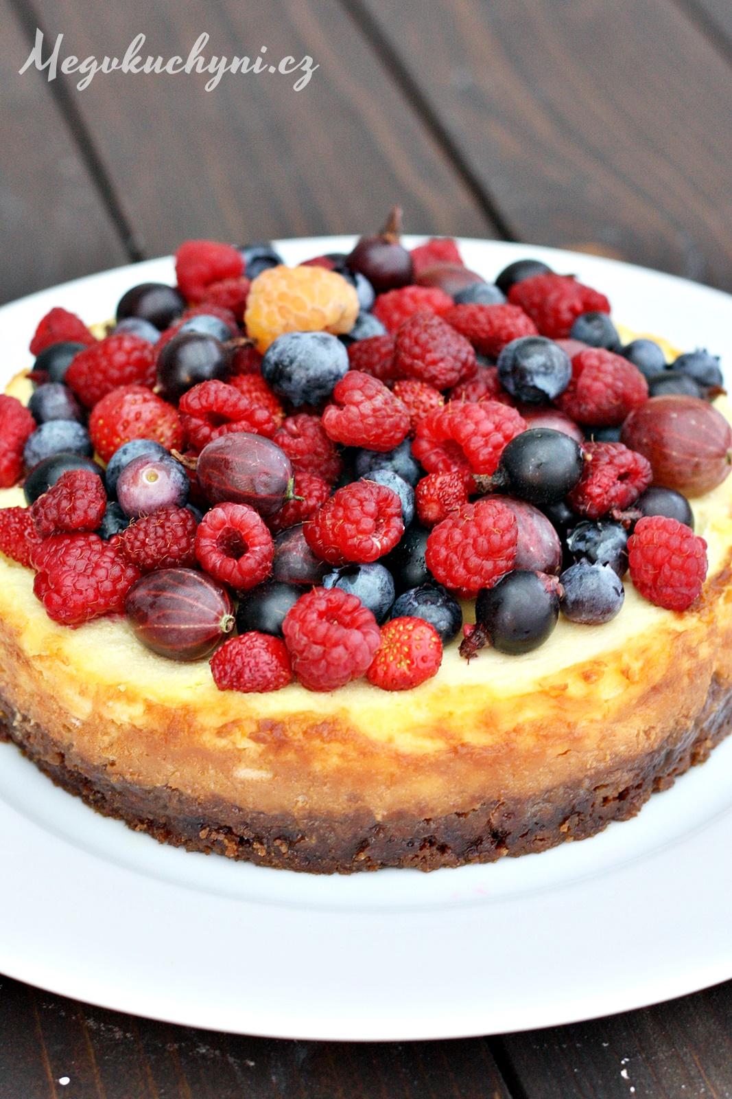 Pečený mascarpone cheesecake sovocem