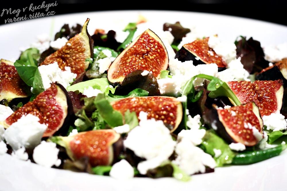 Rychlý salát spečenými fíky