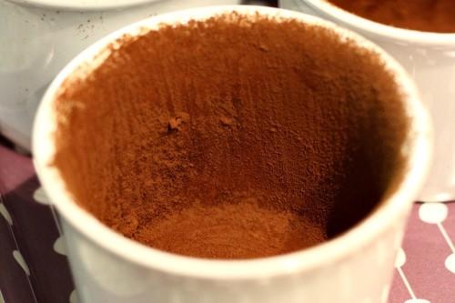 Formičky vysypané kakaem