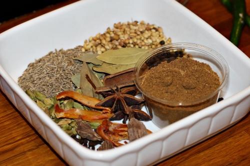 Ingredience Garam Masala