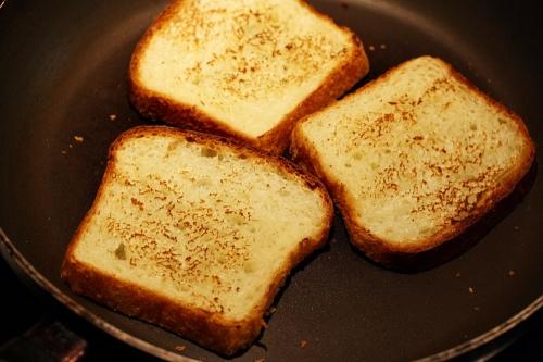 Opečený toastový chléb