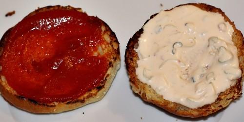 Potřené hamburgerové housky