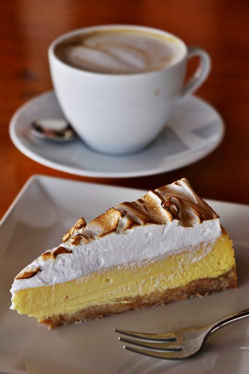 Cappuccino s cheesecakem