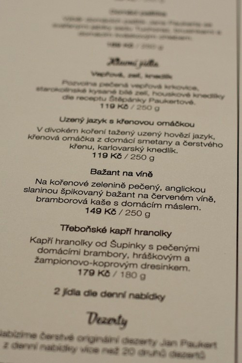 Ukázka menu