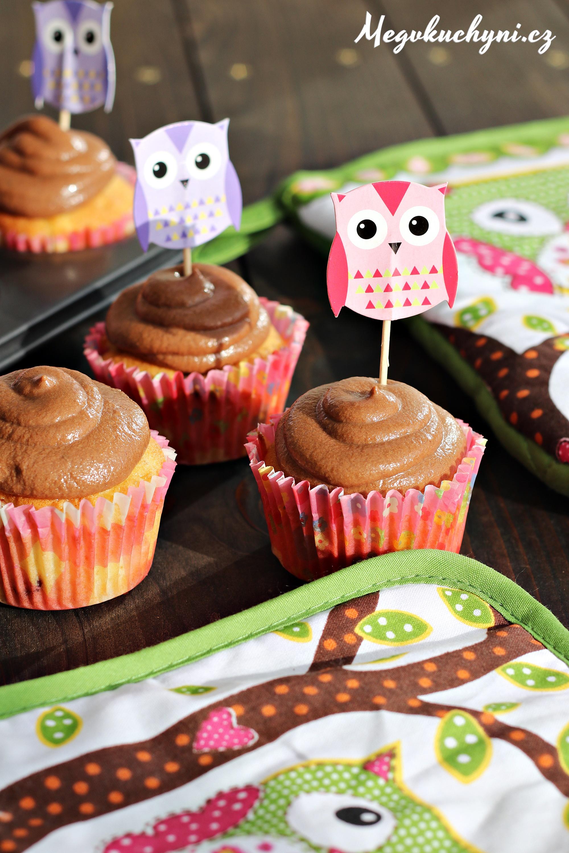Rychlé podzimní cupcaky sčokoládovo-tvarohovým krémem