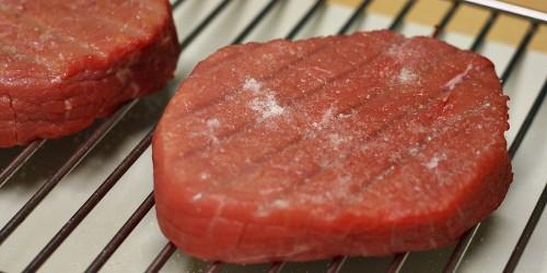 Připravený hovězí steak