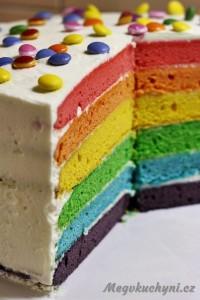 Duhový dort