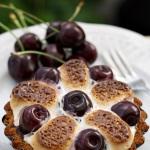 Dortíky s třešněmi a marshmallows