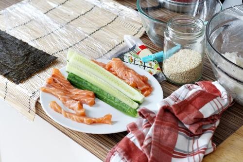 Sushi mise en place