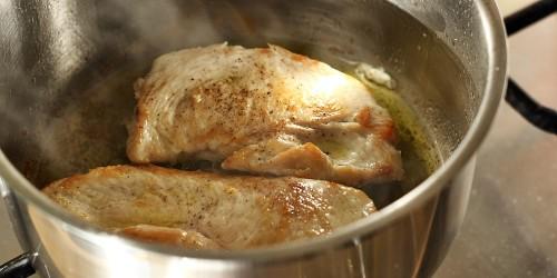 Dozlatova smažená kuřecí prsa