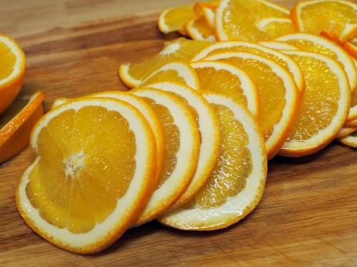 Tenké plátky pomeranče