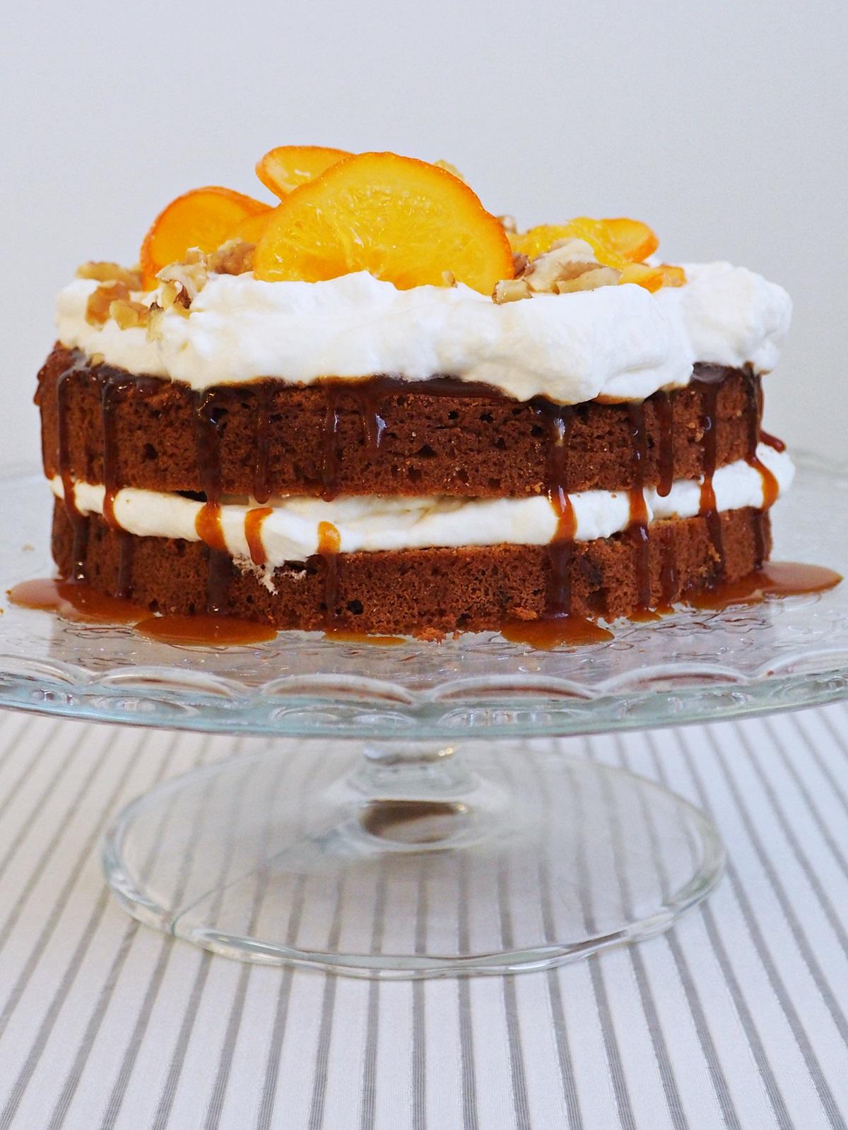Sváteční dort sořechy apomerančem