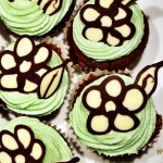 Kakaové cupcakes s pistáciovým krémem