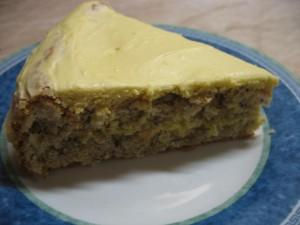 Mandlový dort skávovým krémem